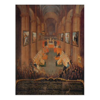 Opening session of the Council of Trent Postcard