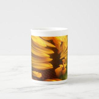 Opening Sunflower Tea Cup