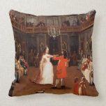 Opening the Ball Throw Pillow