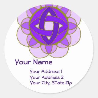 """Opening the Crown Chakra"" Address Label"