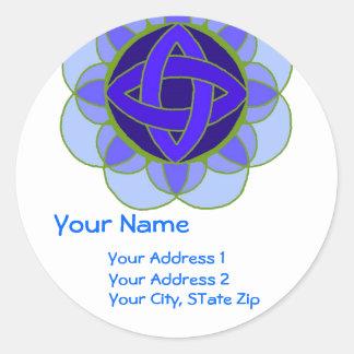 """ Opening the Throat Chakra"" Address Label"