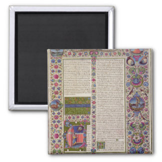 Opening words of Leviticus 2 Inch Square Magnet