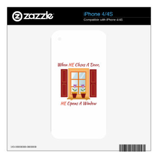 Opens A Window iPhone 4 Skins