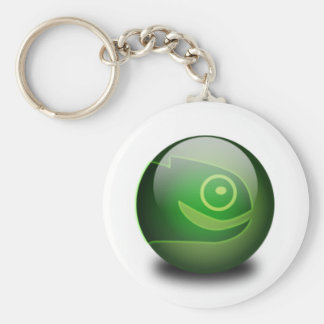 Opensuse Basic Round Button Keychain