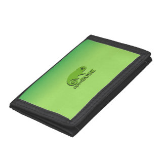 OpenSuse Linux green gradient Tri-fold Wallets
