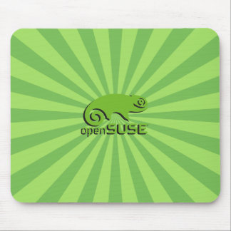 OpenSuse Linux StarBurst verde Alfombrillas De Ratones