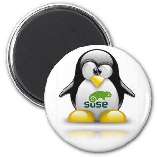 openSuzie Linux Logo 2 Inch Round Magnet