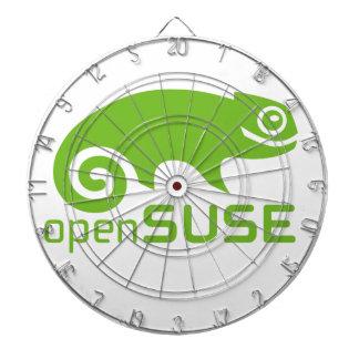 openSuzie Linux Logo Dartboard With Darts
