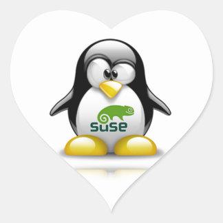 openSuzie Linux Logo Heart Sticker