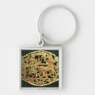 Openwork plaque or buckle keychain