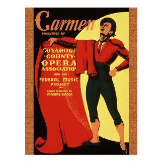 Ópera 1939: Postal de Carmen