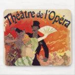Ópera antigua Carnaval del teatro del vintage Alfombrilla De Ratones