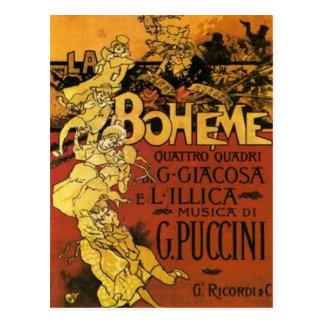 opera art postcard