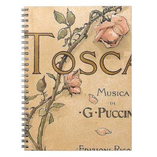 opera art spiral notebook