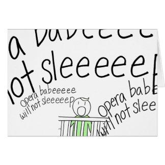 Opera Baby! Card