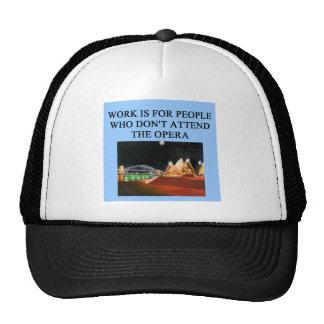 opera beats work trucker hat