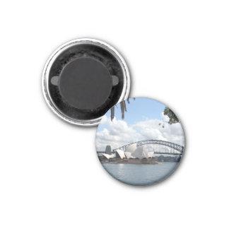 opera bridge view 1 inch round magnet