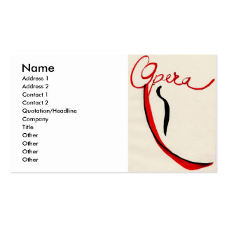 Opera business card, colour