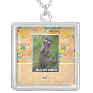 Opera Cat Silver Plated Necklace