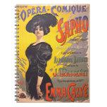 Ópera cómica Playbill 1897 Libros De Apuntes Con Espiral
