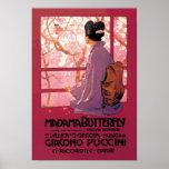 Ópera de la mariposa de Madama Posters