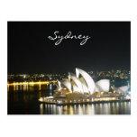 ópera de la noche de Sydney Tarjeta Postal