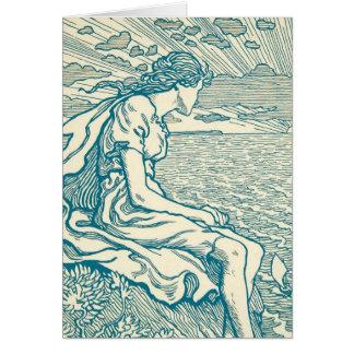 Ópera de Wagner del mar del acantilado del amor de Tarjeta Pequeña