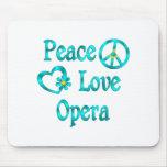 Ópera del amor de la paz alfombrilla de raton