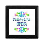 Ópera del amor de la paz caja de joyas