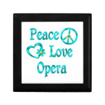 Ópera del amor de la paz cajas de joyas
