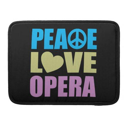 Ópera del amor de la paz funda para macbooks