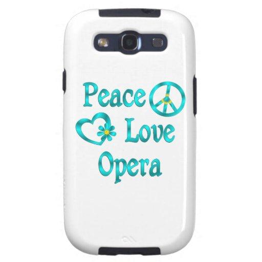 Ópera del amor de la paz galaxy s3 carcasa