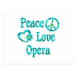 Ópera del amor de la paz postal