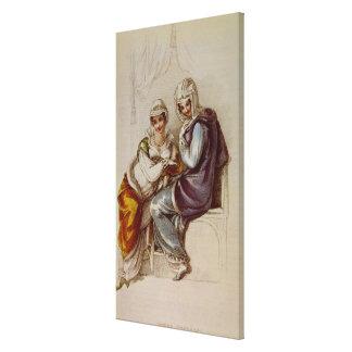 Opera dresses, Ackermann print, 1811 Stretched Canvas Print