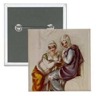 Opera dresses, Ackermann print, 1811 Pinback Button