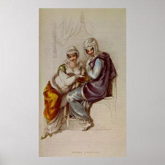 Opera dresses, Ackermann print, 1811 Poster