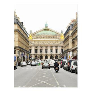 Ópera en París, Francia Tarjeta Postal