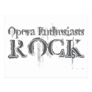 Opera Enthusiasts Rock Postcard