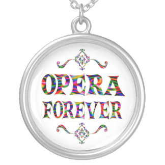 Opera Forever Round Pendant Necklace