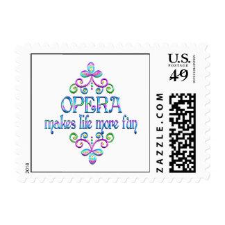 Opera Fun Postage Stamp