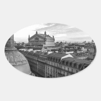 opera Garnier, Paris, France Oval Sticker