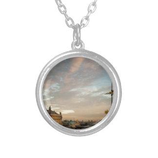 opera Garnier, Paris, France Silver Plated Necklace