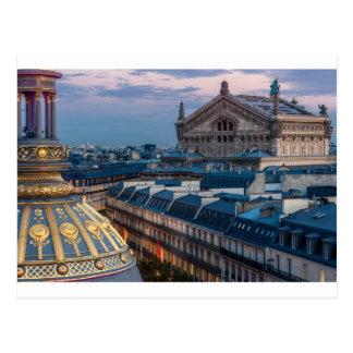 Opera garnier, Paris Postcard
