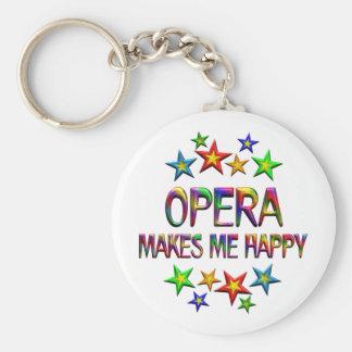 Opera Happy Basic Round Button Keychain