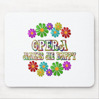 Opera Happy Mouse Pad