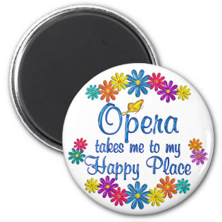 Opera Happy Place Refrigerator Magnets
