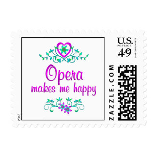 Opera Happy Postage Stamp