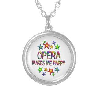 Opera Happy Round Pendant Necklace