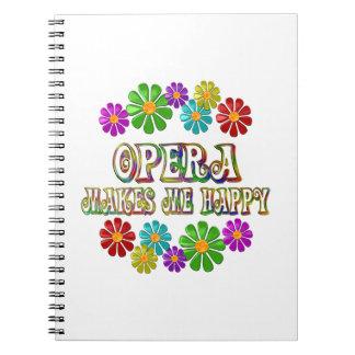Opera Happy Spiral Notebook