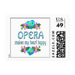 Opera Heart Happy Postage Stamps